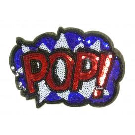 emblème paillettes BD pop! thermocollant