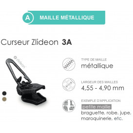 curseur ZlideOn 3A pour fermeture métal