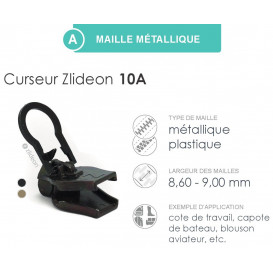 curseur ZlideOn 10A pour fermeture métal