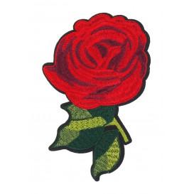 écusson fleur rose rouge thermocollant