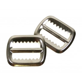 2 boucles métal à dents 20mm