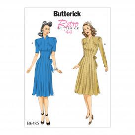 patron robe rétro 1944 Butterick B6485