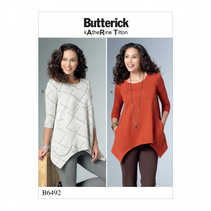 patron tuniques semi-ajustées Butterick B6492