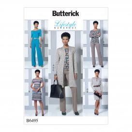 patron haut, robe, combinaison Butterick B6495