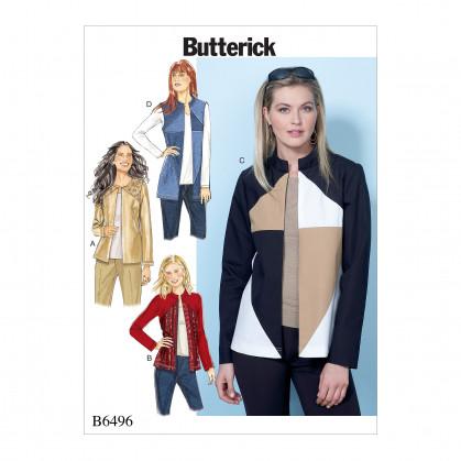 patron veste et gilet amples Butterick B6496