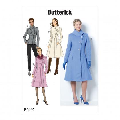patron veste et manteau Butterick B6497