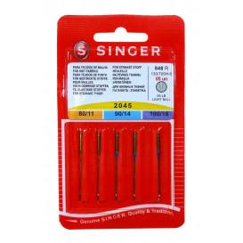 5 aiguilles machine stretch Singer 2045 assorties