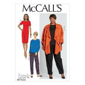 patron haut, robe, pantalon, veste McCall's M7635