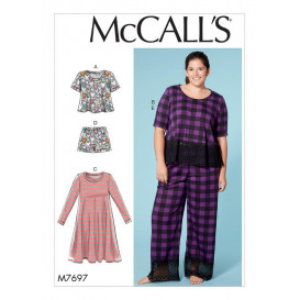 patron hauts, robe, short, pantalon McCall's M7697