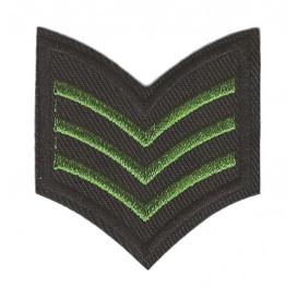 écusson galon de l'armée vert et noir thermocollant