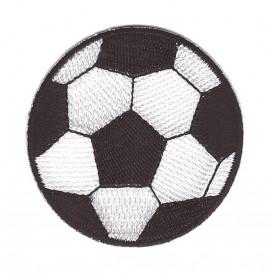 écusson ballon de foot 5,3cm thermocollant