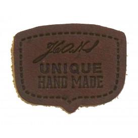 écusson cuir unique hand made à coudre