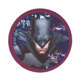 écusson batman rond violet thermocollant