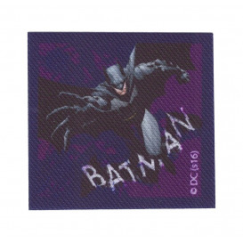 écusson batman carré violet thermocollant