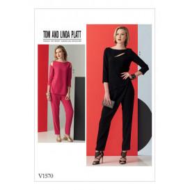 patron haut et pantalon Vogue V1570