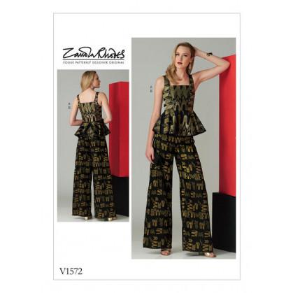patron haut et pantalon Vogue V1572
