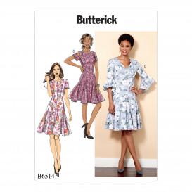 patron robe moulante Butterick B6514