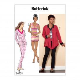 patron veste, haut, short, pantalon Butterick B6528
