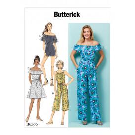 patron robe, barboteuse, combinaison Butterick B6566