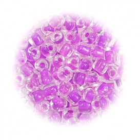 grosse perles de verre ronde lilas 7 gr