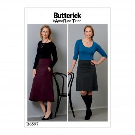 patron jupes à poches Butterick B6597
