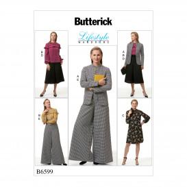 patron veste, haut, robe, pantalon Butterick B6599