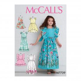 patron enfant robes doublées McCall's M7739