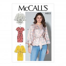 patron hauts et robes amples McCall's M7803