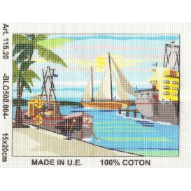Kit canevas port 15x20 cm