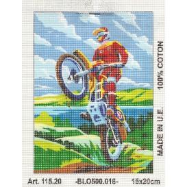 Kit canevas moto cross 15x20 cm