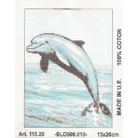 Kit canevas dauphin 15x20 cm