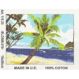 Kit canevas palmier 15x20 cm
