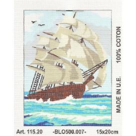 Kit canevas bateau 15x20 cm
