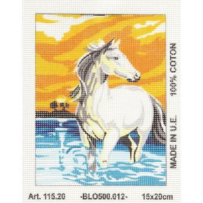 Kit canevas cheval 15x20 cm