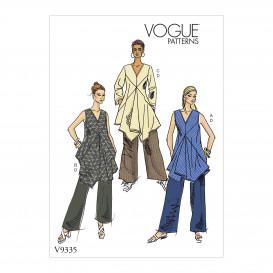 patron tunique et pantalon Vogue V9335