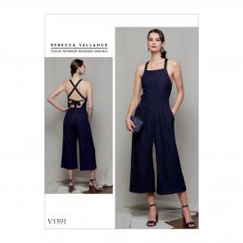 patron combinaison doublée Vogue V1591