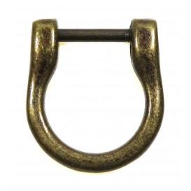attache pour anse de sac à main bronze 1,8cm x 1,4cm