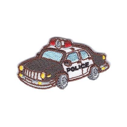 écusson voiture de police 5cm x 3cm thermocollant