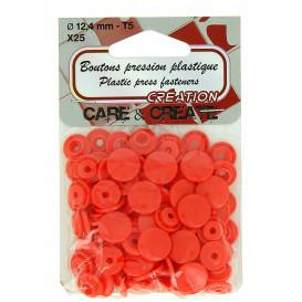 25 boutons pression plastique 12,4mm - T5