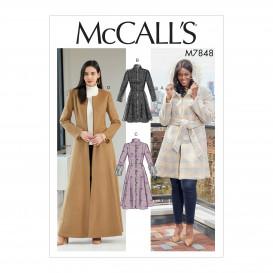 patron manteaux et ceinture McCall's M7848