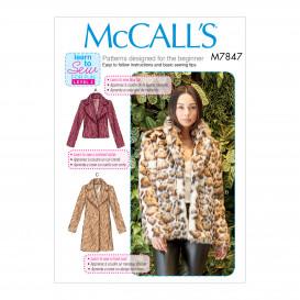 patron manteaux ajustés McCall's M7847