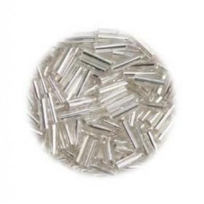 perles de verre batonnet argent 15 gr