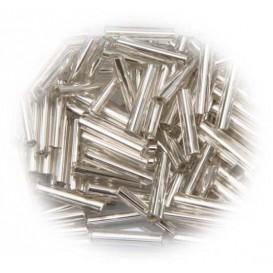perle de verre longue tige argent 15 gr