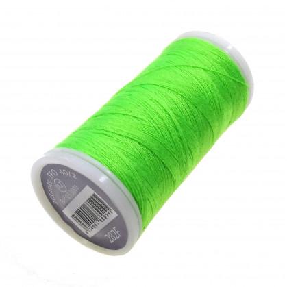 fil à coudre polyester vert fluo 200m