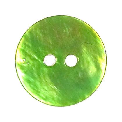 bouton nacre rond 2 trous 15mm