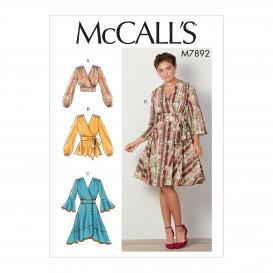patron hauts et robes McCall's M7892