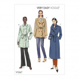 patron manteau croisé Vogue V9367