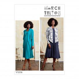 patron petit boléro et robe Vogue V9358