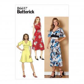 patron robe semi-ajustée Butterick B6657