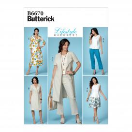 patron haut, robe, jupe, pantalon Butterick B6670